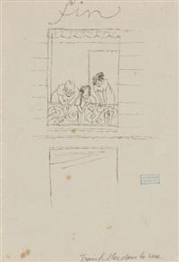 dessin preparatoire pour fin de l'oeuvre trois petites filles dans la rue by jules pascin