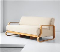 three-seater sofa, model no. 44 by alvar aalto