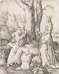 the temptation of st. anthony by lucas van leyden