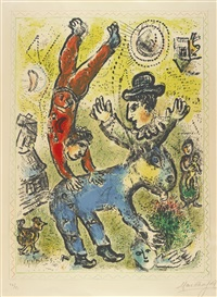 the red acrobat by marc chagall