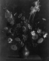 fleurs dans un vase d'étain by georges arditi