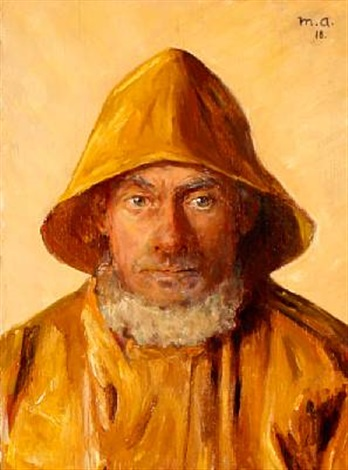 a fisherman from skagen en face by michael peter ancher