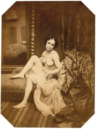 femme nue avec draperie by joseph auguste belloc