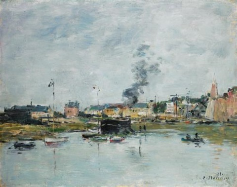 le port de trouville by eugène boudin
