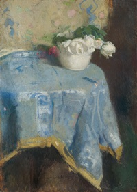 white roses by alfons karpinski