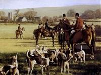 hunting scene by william frank calderon