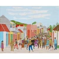 carnival 1948, rue 5, cap-haitien by philomé obin
