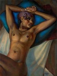 la fille au coussin bleu by mahmoud said