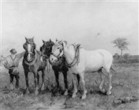 boer met paarden by william g. skinner