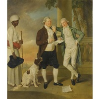 portrait of claud alexander, with his brother boyd, attended by an indian servant by johann joseph zoffany