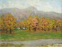 autumn landscape by dan ialomiteanu