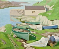ballintoy harbour by romeo charles toogood