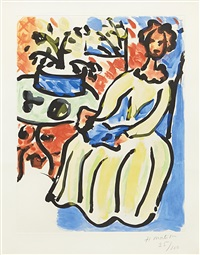 marie-josé en robe jaune by henri matisse