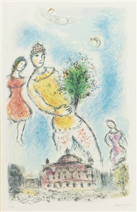in the sky of the opera by marc chagall