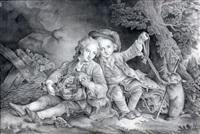 les enfants du duc de bouillon en costumes savoyards by françois hubert drouais