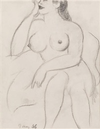 seated nude by john duncan fergusson