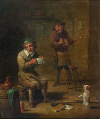 la lecture de la gazette by david teniers the elder