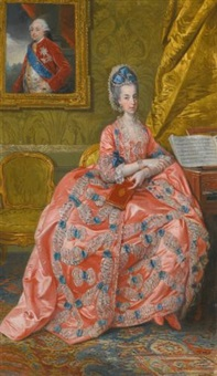 portrait of the archduchess maria amalia of austria, duchess of parma by johann joseph zoffany