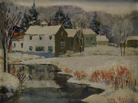 winter in lyme, connecticut by guy carleton wiggins