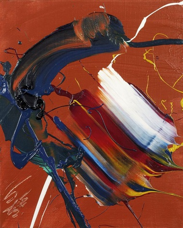 composition by kazuo shiraga