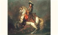 portrait équestre de louis xiv by rené antoine houasse