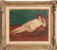 reclining nude by andré derain
