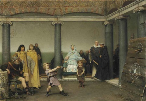 the education of the children of clotilde and clovis by sir lawrence alma tadema