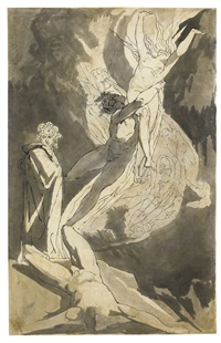 dante observing the soaring souls of paolo and francesca by henry fuseli