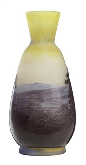 riverscape vase by émile gallé