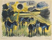 kühe auf der weide by max pechstein