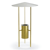 three-legged floor lamp by philip johnson and richard kelly
