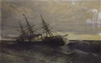 bateau par gros temps by raphael monleon y torres