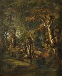 repos en forêt by jules andré