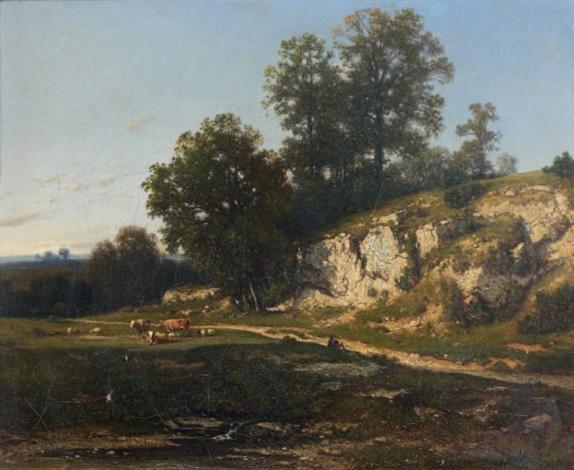 paysage champêtre by jean alexis achard