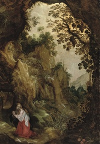 the penitent mary magdalene in the wilderness by kerstiaen de keuninck