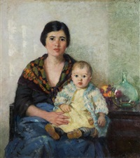 portuguese mother and child by pauline palmer
