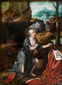 saint jérôme dans un paysage by lucas gassel