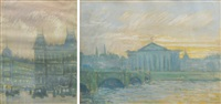 images of paris (2 works, different sizes) by henri visconte
