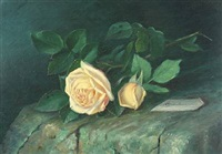 roses on a by alfrida baadsgaard