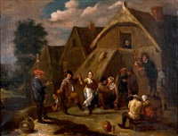réjouissance devant l'auberge by david teniers the younger