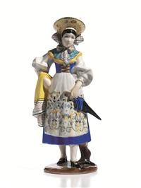 figura femminile in costume by abele jacopi