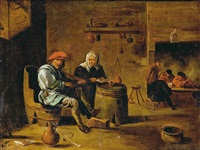 escena de interior by david teniers the elder