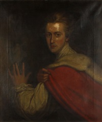 portrait of thomas, second lord lyttleton (after richard cosway) by frank moss bennett