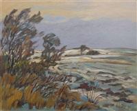 landschaft im februar by fredo bley