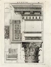 i quattro libri dell'architettura (folio of 44 works) by andrea palladio