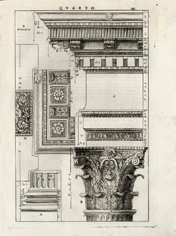 i quattro libri dellarchitettura folio of 44 works by andrea palladio