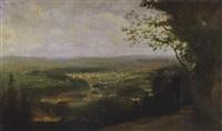 paysage vu d'une colline by charles de meixmoron de dombasle