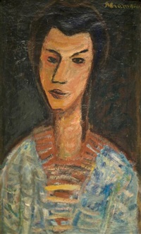 modigliani inspired portrait by pinchas abramovich
