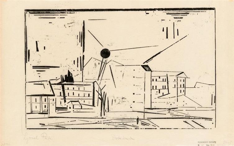 vorstadt 2 by lyonel feininger