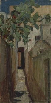 a street in capri by john william waterhouse
